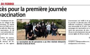 Article Corse matin du 19/05/2021 sur la journée de vaccination