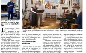 Article paru dans Corse Matin de Ange François Istria