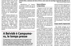 Article de Corse matin du 16/09 d'Ange François Istria