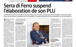 La commune suspend l'élaboration de son PLU.