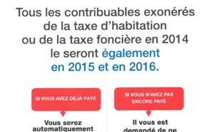 Informations sur l'exonération de la taxe d'habitation ou de la taxe foncière