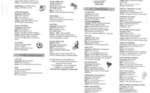 Activités sportives et culturelles associations 2015/2016